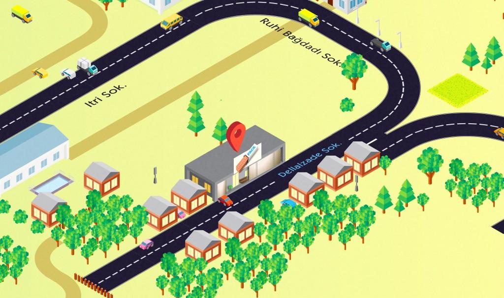 Brick Pack İletisim Map